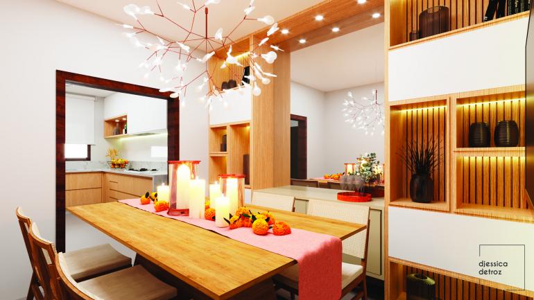 Cozinha e Sala de Jantar Clean e Atemporal com Jardim de Inverno 6