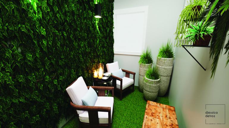 Cozinha e Sala de Jantar Clean e Atemporal com Jardim de Inverno 7