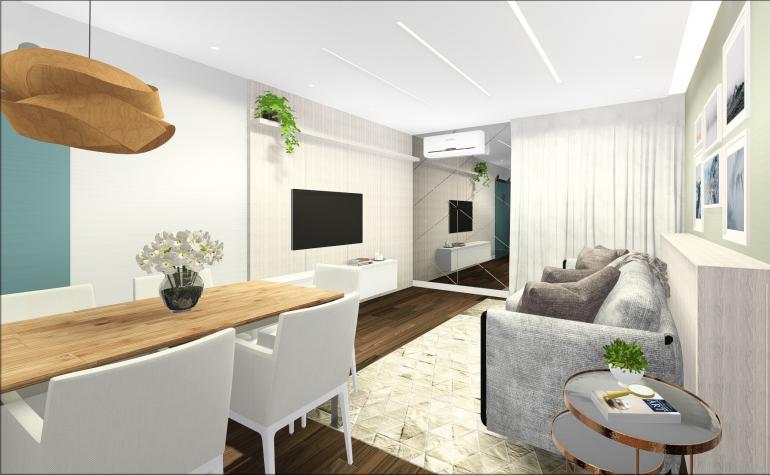 Apartamento em Conceito Aberto 3