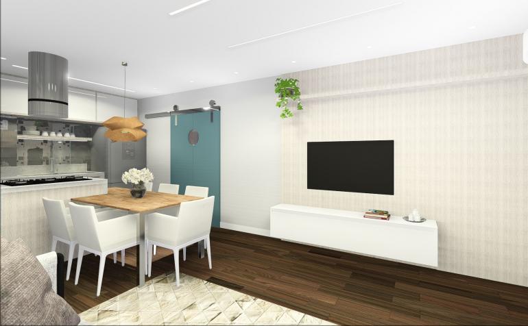 Apartamento em Conceito Aberto 4