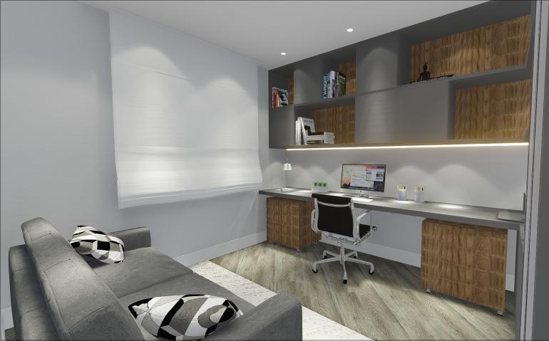 Home Office com Sofá Cama 2