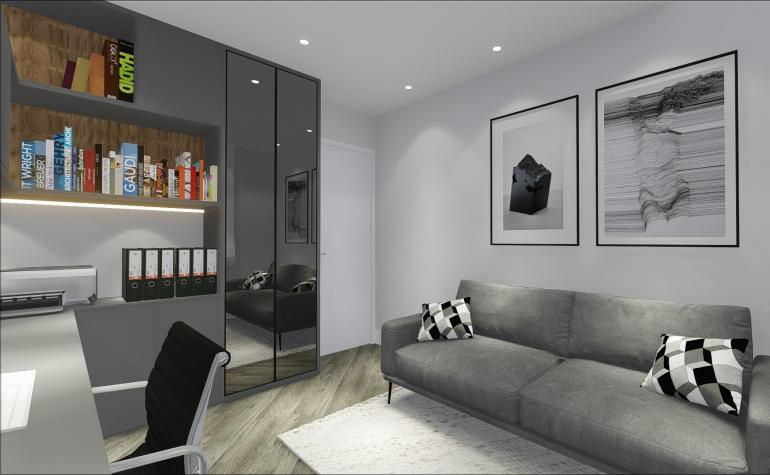 Home Office com Sofá Cama 3