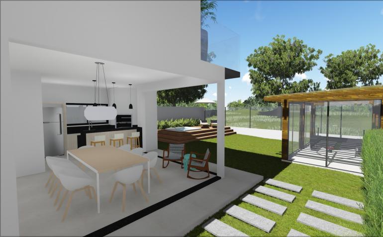 Projeto Residencial com Espaço Gourmet 4