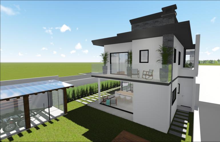 Projeto Residencial com Espaço Gourmet 6