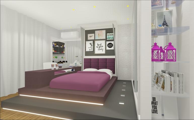 Dormitório Filha com Cama Elevada 2