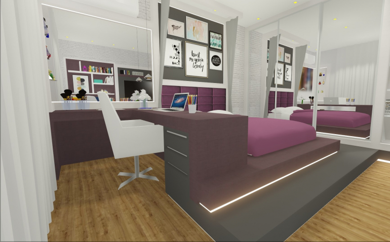 Dormitório Filha com Cama Elevada 4