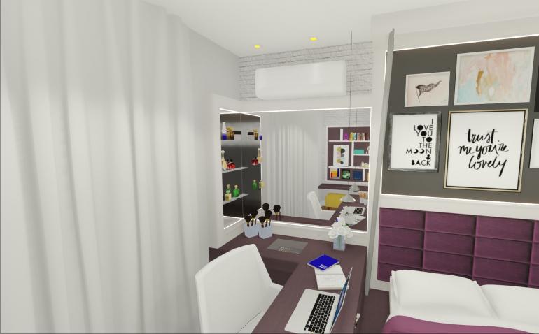 Dormitório Filha com Cama Elevada 5