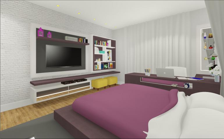 Dormitório Filha com Cama Elevada 6