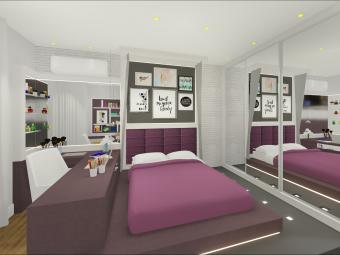 Dormitório Filha com Cama Elevada