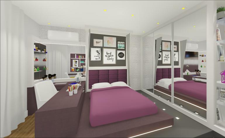Dormitório Filha com Cama Elevada 1