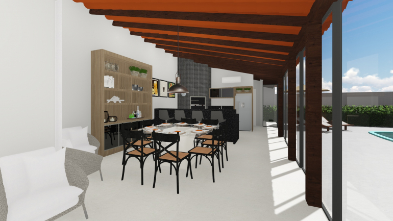 Projeto Residencial de Reforma de Espaço Gourmet 3