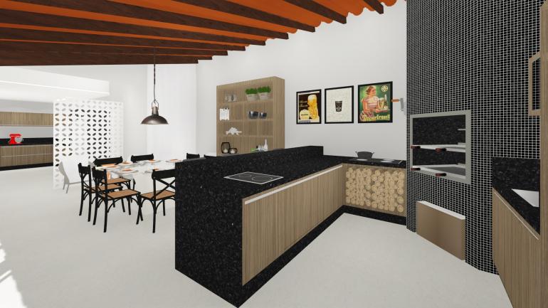 Projeto Residencial de Reforma de Espaço Gourmet 2
