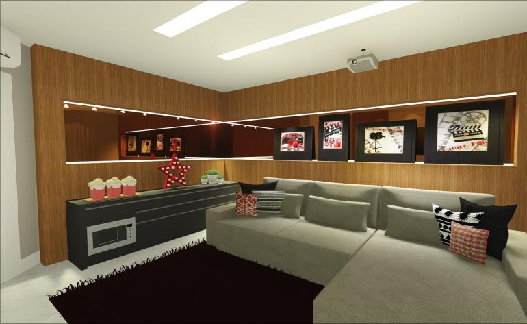 Sala de Tv da Família com Lareira 1