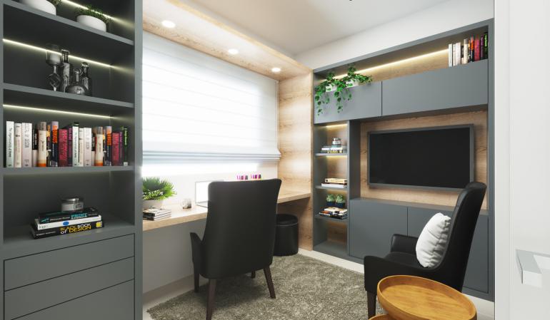 Home Office com Tv 1