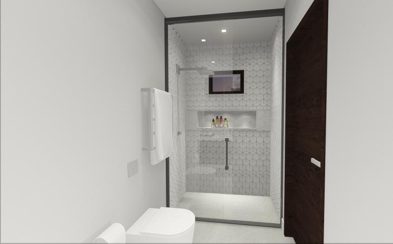 Banheiro com Móvel em Lâmina Natural 2