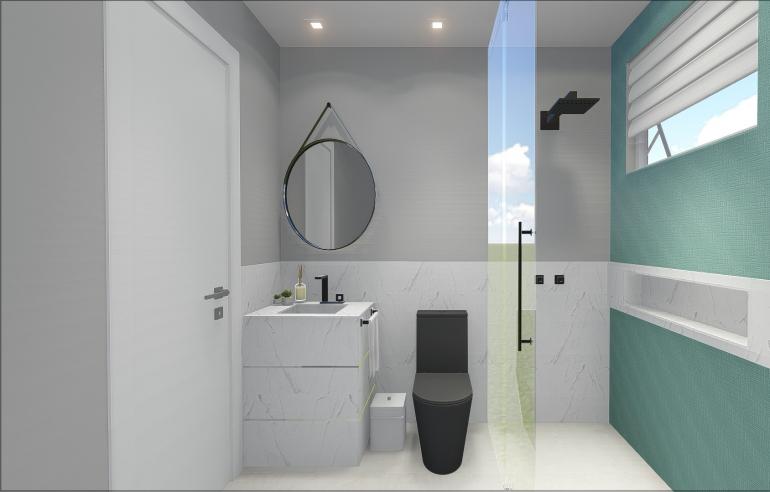Banheiro Social Moderno 2