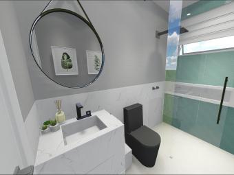 Banheiro Social Moderno