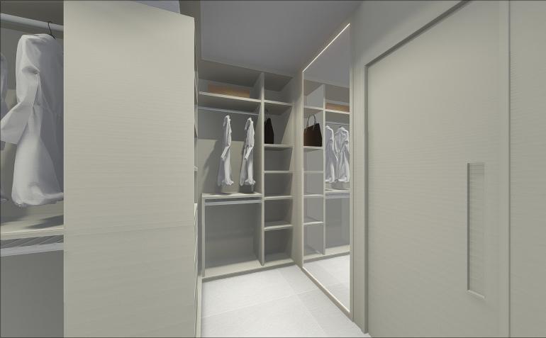 Suíte com Closet e Portas de Vidro Fumê 4