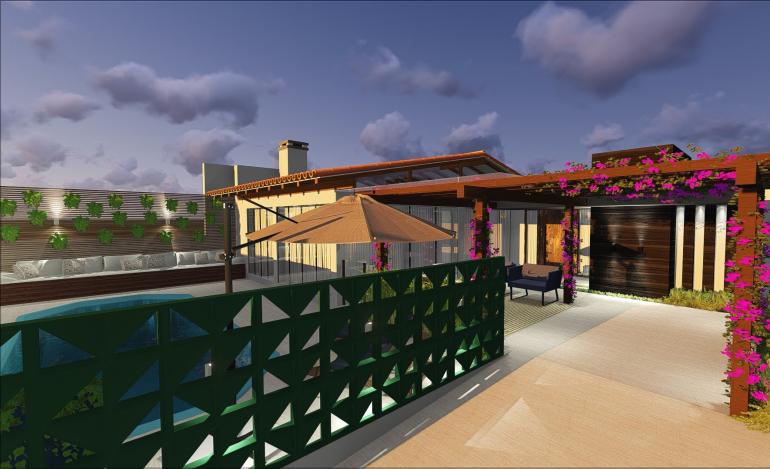 Fachada e Piscina de Casa de Praia 1