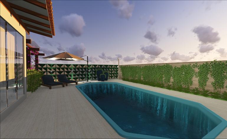 Fachada e Piscina de Casa de Praia 8