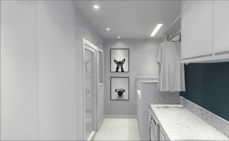 Lavanderia com Espaço de Banho Pet 4