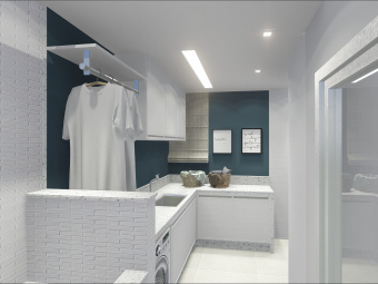 Lavanderia com Espaço de Banho Pet
