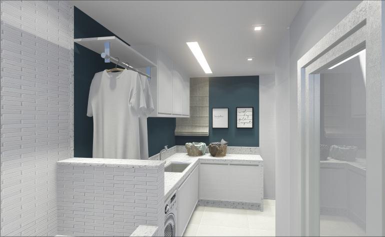 Lavanderia com Espaço de Banho Pet 1