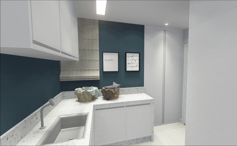 Lavanderia com Espaço de Banho Pet 2