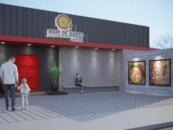 Reforma de Fachada – Pizzaria