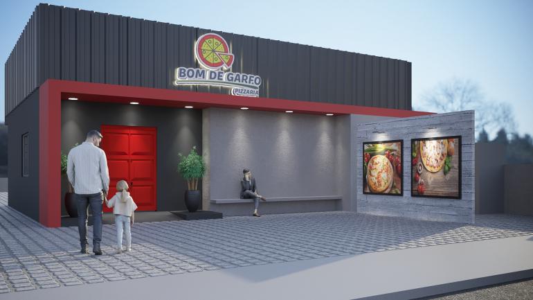 Reforma de Fachada – Pizzaria 1